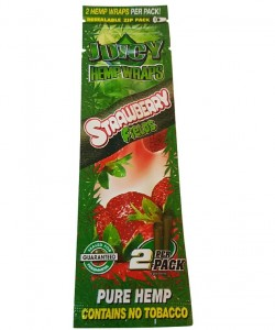 Owijki konopne Juicy Jay's Hemp Wrap Strawberry